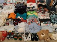 Baby boys clothes 0-18mths