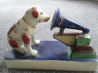 2 Kitsch Mock H.M.V. Dogs and Phonographs in China will sell separately