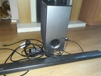 Lg sound bar and sub woofer