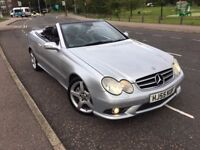 MERCEDES CLK280 3.0 SPORT AUTO 2005 (55) CONVERTIBLE FULL HISTORY FULL LEATHER HEATED SEATS XENON