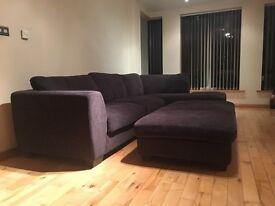 Corner sofa for sale, excellent condition. With footstool