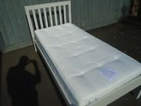 GREY SINGLE WOODEN BED at Haven Trust's charity shop at 247 Radford Road, NG7 5GU.