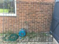 Tall Wrought Iron Garden Double Gate
