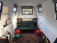 Stunning narrow boat on historic Eel Pie Island