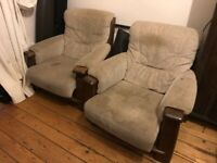 Upholstery Project! 2 very comfortable armchairs, free to a good home. Must be able to collect both.