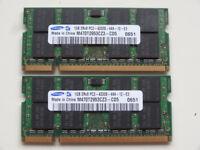 2x Samsung 1 GB SDRAM DDR2, 533 MHz, M470T2953CZ3-CD5 memory for laptop