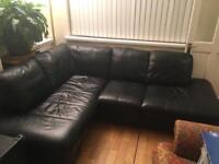 *SOLD* High quality leather corner sofa