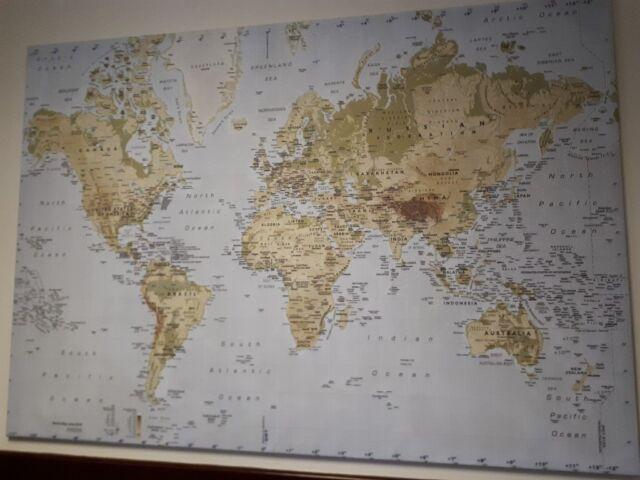 Large World Map Canvas   in Belfast City Centre, Belfast   Gumtree