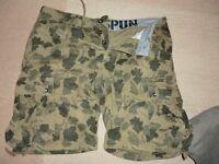Shorts, Cargo, Green/kaki