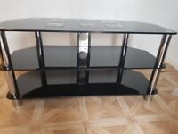 Tv stand in black colour glass up to 60inch tv