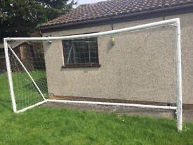 Large goal net.