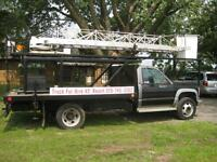 Bucket Aerial Truck for Hire 45' reach Free Estimates