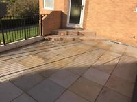 49 (17.6 sqm) x Indian stone plain paving stones 600x600x22