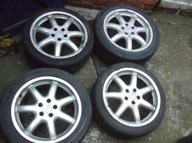 "18"" Genuine Audi A8 Alloy Wheels, Volkswagen Golf MK5, Caddy, Touran *POSTAGE AVAILABLE*"