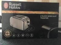 Brand New Russell Hobbs Wide Slot 2-Slice Toaster