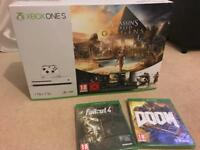 Brand new Xbox one s 1tb with 4 games
