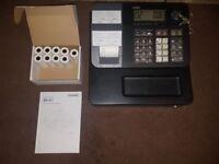 Casio SE-G1 SEG1 Black Cash Register / Shop Till plus instructions and 9 spare till rolls