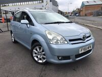 2005 TOYOTA COROLLA VERSO 1.8 VVT-i, 2 KEYS, 7 SEATER, MOT DEC 17, TWIN DVD AND TV'S, DRIVES GREAT