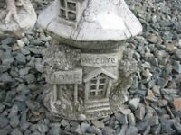 ORNATE STONE GARDEN FEATURE ' FAIRY / PIXIE WELCOME HOUSE' VIEWING/DELIVERY AVAILABLE