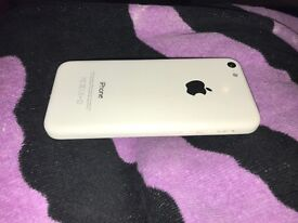 iPhone 5c white for sale.