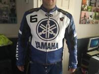 Genuine leather Yamaha motorbike jacket