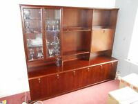 Meredew Mahogony Display Cabinet and base unit