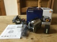 Sony Handycam DCR-DVD 106E Camcorder with DVD-R Discs and Batteries