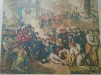 Original print of the death of lord Nelson at the Battle of trafalgar