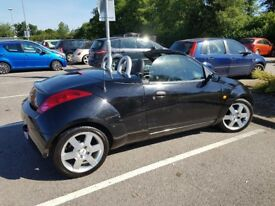 Ford Ka Cabriolet Black leather interior heated seats great runner 11 months mot softtop cd radio