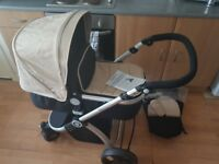 Pram to buggy travel system. ONLY USED COUPLE TIMES
