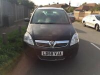 Vauxhall zafira 7 seater for sale, long MOT, service history, drives very good.