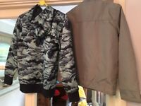 Jasper Conran JJeans grey/silver zip jacket also Hurley cool hoodie both Age 10/11