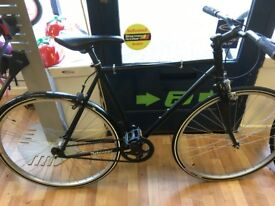 """Single speed Black alloy 21"""" frame RetroSpec, New rear wheel and pair tyres cycle bike"""