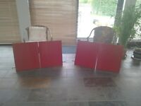 4 new red kitchen wall cabinet doors