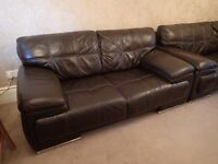 3 & 2 Seater sofa with footstool in very good condition L@@K!!!!!