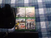 Xbox one 1tb 4 games and racing wheel would sell seperate