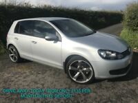 APRIL 2011 VOLKSWAGEN GOLF 1.6 TDI MATCH 18 ALLOYS PRIVACY CRUISE B/TOOTH FINANCE AVAILABLE £20 TAX