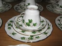 Ivy Leaf Bone China Tea Set, some Colclough and some Duchess that match perfectly - top quality