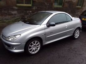 Peugeot 206 cc Quiksilver Convertible, MOT: 31 July 2018, Great Running Car, only £550