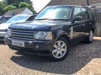 Range Rover 3.6 TDV8 VOGUE Auto, diesel, 4X4, metallic Blue.