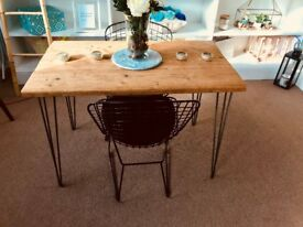 Dining table and 2 matching benches seats 4