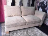 New 2 Seater Sofa In Velour Fabric In Sand Colour Chaise Corner Sofa