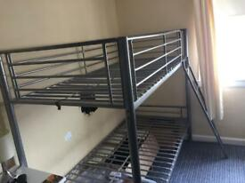 Silver bunk bed frame