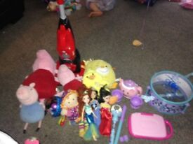 Mix of all toys some musical