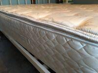 Luxury King size pillow top mattress.