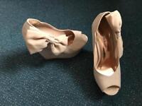 Miss Selfridge beige Nude Shoes Wedges size 3