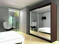 🔵💖🔴CALL NOW FOR SAME DAY🔵💖🔴BERLIN 2 DOOR SLIDING WARDROBE WITH FULL MIRROR