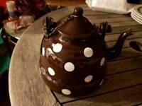 2 x French Enamel Tea Pots