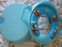 Thomas the Tank Engine toilet seat with handles plus step. Excellent condition.