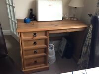 Mexican pine desk / dressing table
